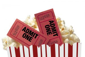 Theater Popcorn and tickets