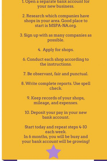 10 Tips to Get Started in Mystery Shopping