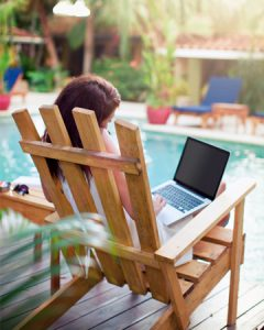 Home-based business vacation